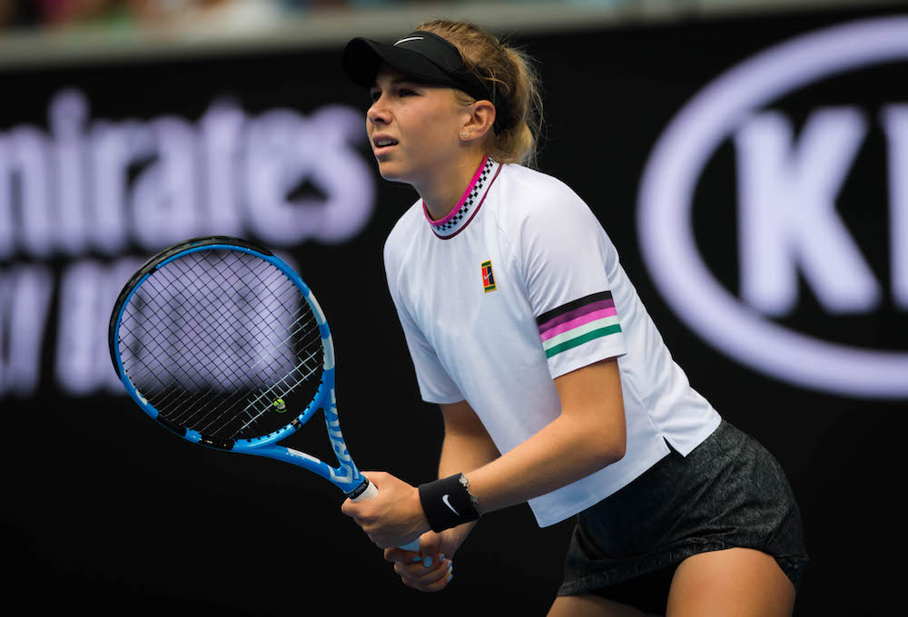 Amanda Anisimova in the third round of the Australian Open 2019, Melbourne