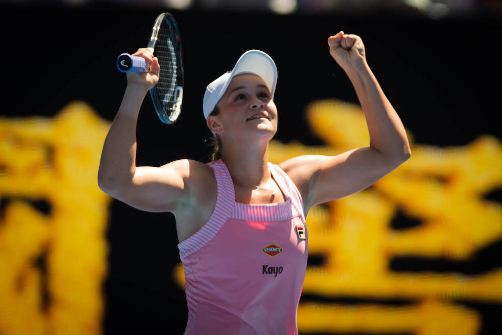 Ashleigh Barty in the fourth round of the Australian Open 2019, Melbourne