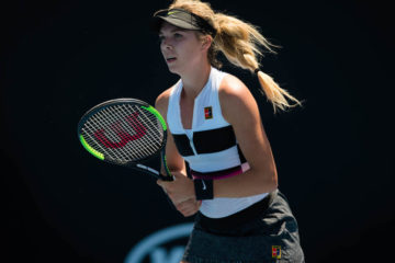 Katie Boulter in the first round of the Australian Open 2019, Melbourne