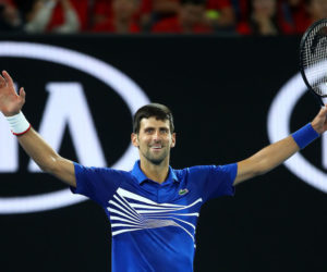Novak Djokovic in the final of the Australian Open 2019, Melbourne