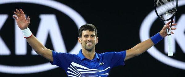 Novak Djokovic in the final of the Australian Open 2019, Melbourne