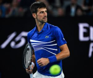 Novak Djokovic in the quarter-final of the Australian Open 2019, Melbourne