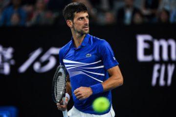 Novak Djokovic in the quarter-final of the Australian Open 2019, Melbourne