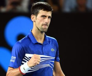 Novak Djokovic in the semi-final of the Australian Open 2019, Melbourne