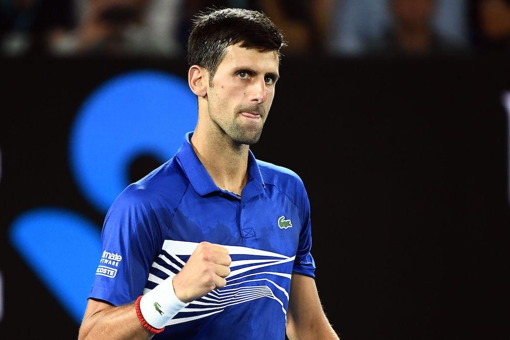 Novak Djokovic in the semi-final of the Australian Open 2019, Melbourne