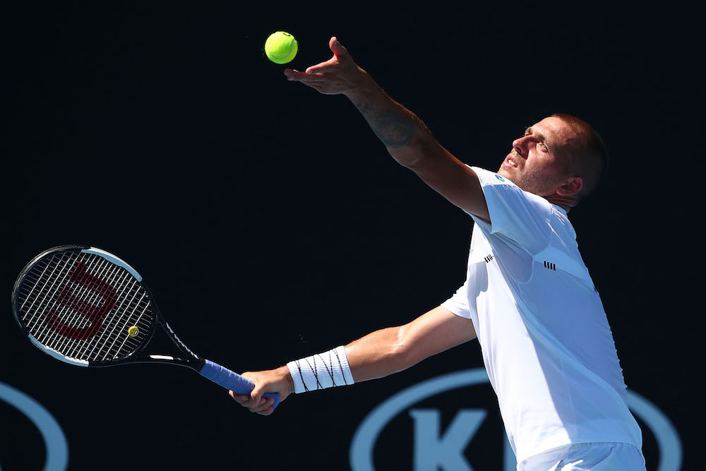 Dan Evans in the first round of the Australian Open 2019, Melbourne