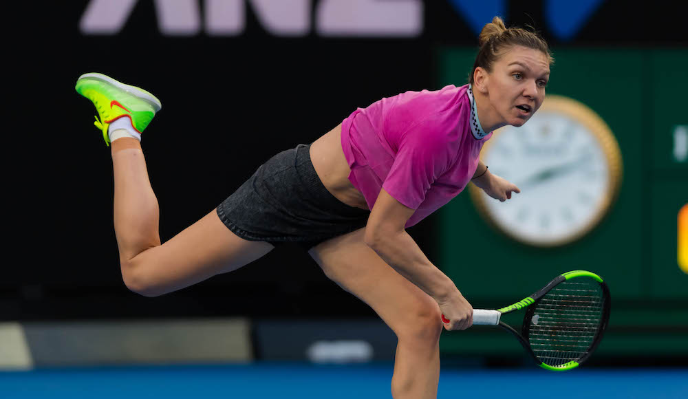 Simona Halep in the first round of the Australian Open 2019, Melbourne