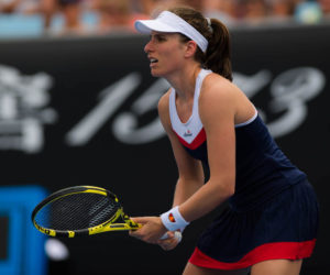 Johanna Konta inthe first round of the Australian Open 2019, Melbourne