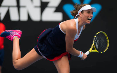 Johanna Konta in the first round of the Australian Open 2019, Melbourne