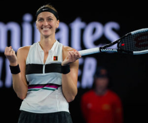 petra Kvitova in the semi-final of the Australian Open 2019, Melbourne