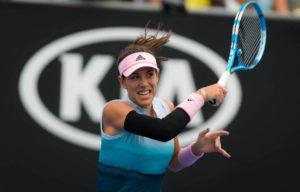 Garbine Muguruza in the first round of thw Australian Open 2019, Melbourne
