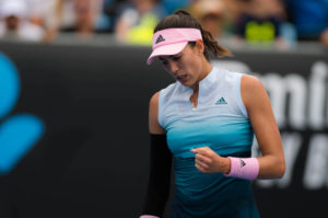 Garbine Muguruza in the first round of the Australian Open 2019, Melbourne