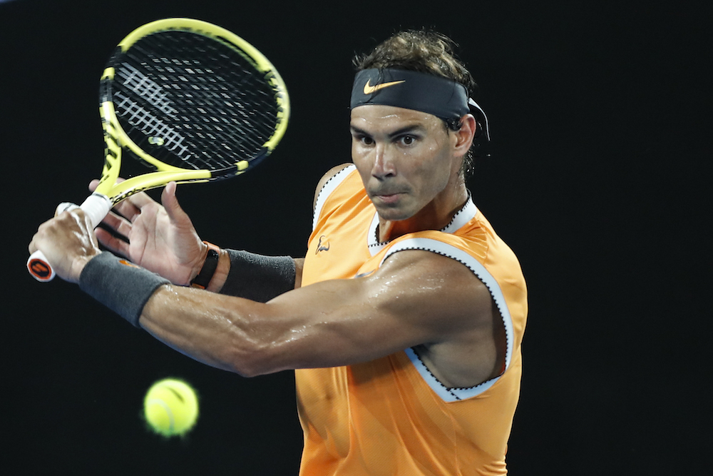 Rafael Nadal in the quarter-final of the Australian Open 2019, Melbourne