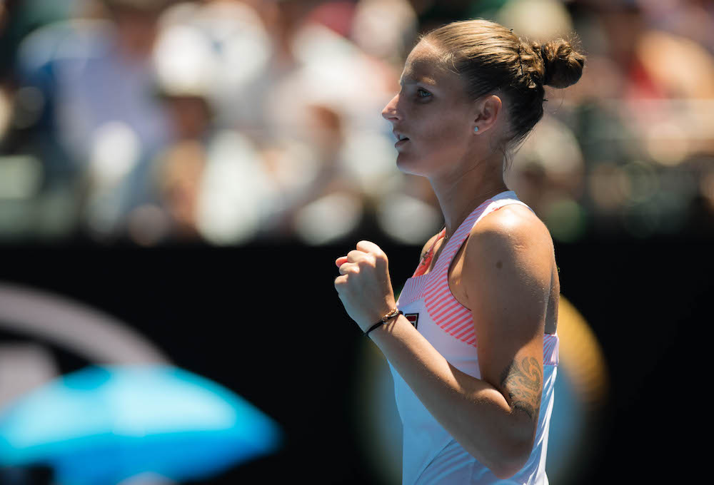 Karolina Pliskova in the quarter-final of the Australian Open 2019, Melbourne