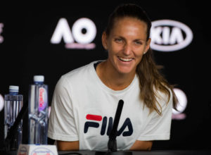 Karolina Pliskova press conference after the quarter-final of the Australian Open 2019, Melbourne