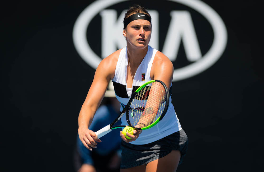 Aryna Sabalenka in the first round of the Australian Open 2019, Melbourne