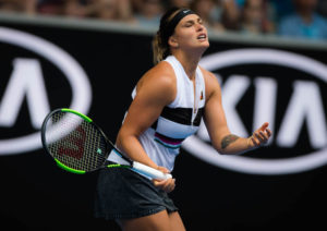 Aryna Sabalenka in the third round of the Australian Open 2019, Melbourne