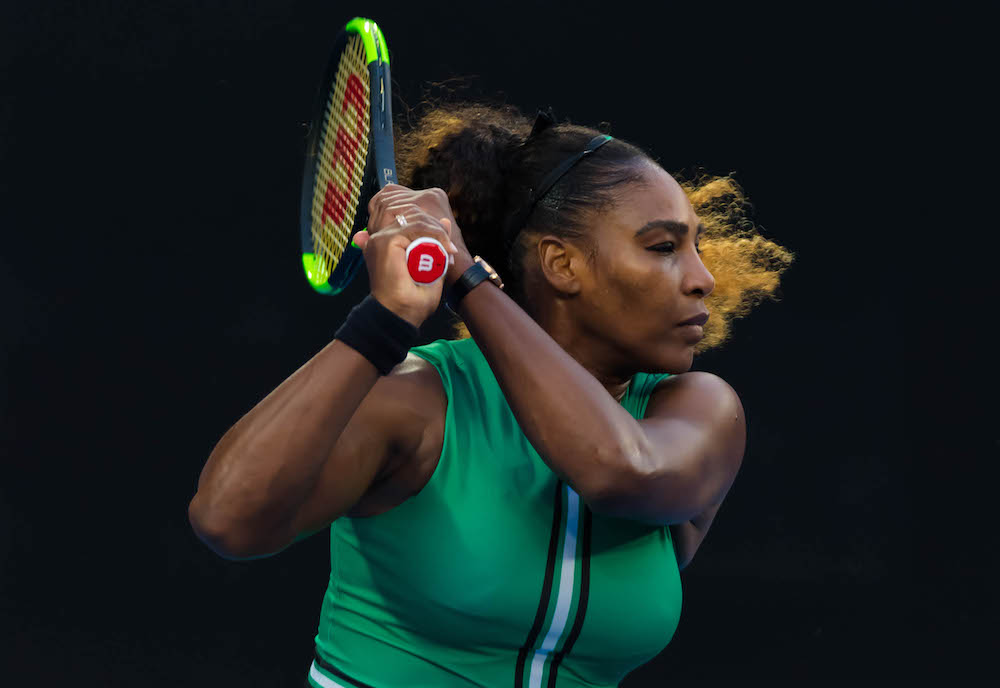 Serena Williams in the fourth round of the Australian open 2019, Melbourne