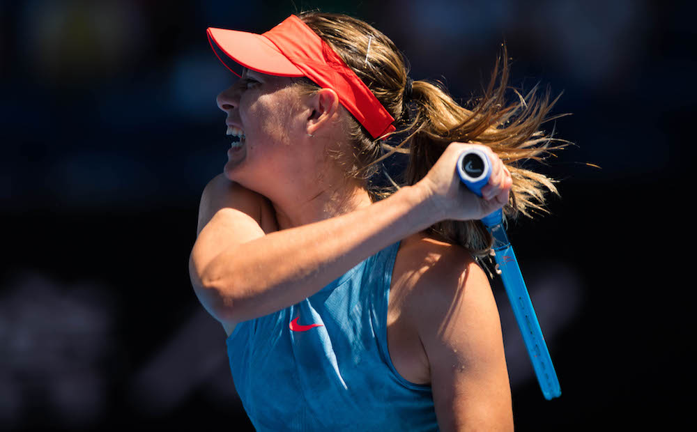 Maria Sharapova in the first round of the Australian Open 2019, Melbourne