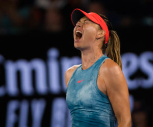 Maria Sharapova in the third round of the Australian Open 2019, Melbourne