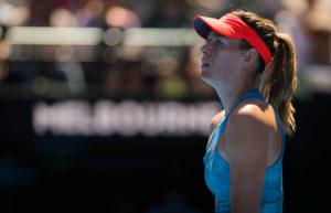 Maria Sharapova in the fourth round of the Australian Open 2019, Melbourne
