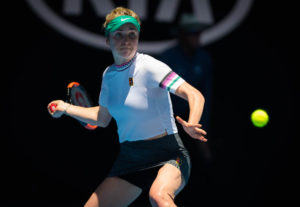 Elina Svitolina in the third round of the Australian Open 2019, Melbourne