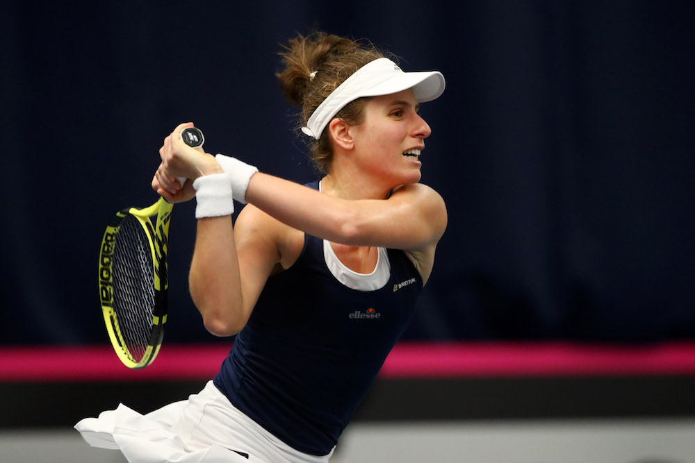Johanna Konta in the Fed Cup 2019, Great Britain v Slovenia, Bath