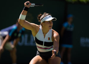 Bianca Andreescu in the BNP Paribas Open final, WTA Indian Wells 2019