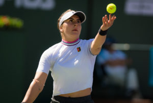 Bianca Andreescu in the quarter-final of the BNP Paribas Open, WTA Indian Wells 2019