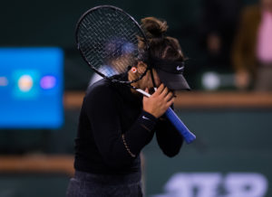 Bianca Andreescu in the semi-final of the BNP Paribas Open, WTA Indian Wells 2019