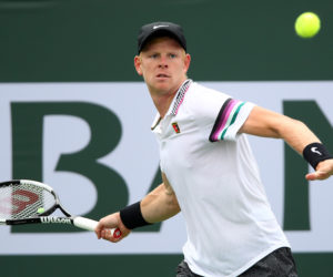 Kyle Edmund in the second round of the BNP Paribas Open, ATP Indian Wells 2019