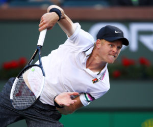 Kyle Edmund in the third round of the BNP Paribas Open, ATP Indian Wells 2019
