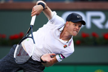 Kyle Edmund in the third round of the BNP Paribas Open, ATP Indian Wells 2019
