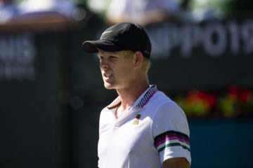 Kyle Edmund in the fourth round of the BNP Paribas Open, ATP Indian Wells 2019