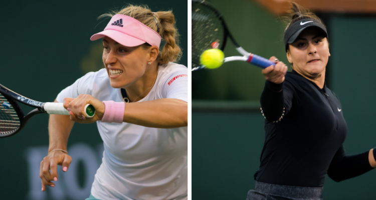 Composite of Angelique Kerber & Bianca Andreescu, who will contet the BNP Paribas Open final, WTA Indian Wells