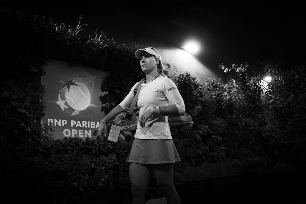 Angelique Kerber in the semi-final of the BNP Paribas Open, WTA Indian Wells 2019