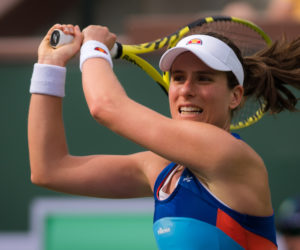 Johanna Konta in the third round of the BNP Paribas Open, WTA Indian Wells 2019