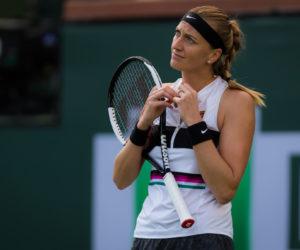 Petra Kvitova in the second round of the BNP Paribas Open, WTA Indian Wells 2019