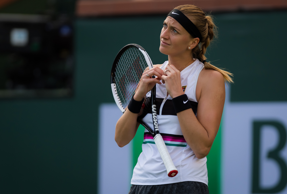 Petra Kvitova in the second round of the BNP Paribas Open, WTA Indian Wells 2019