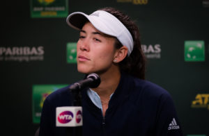 Garbine Muguruza in the quarter-finals of the BNP Paribas Open, WTA Indian Wells 2019