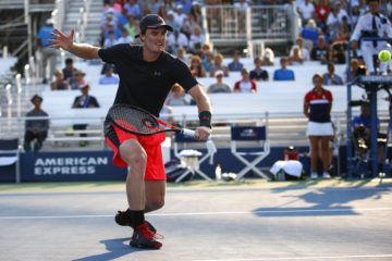 Jamie Murray in the quarter-finals of the Mixed Doubles, US Open 2017