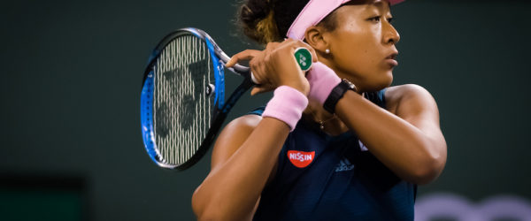 Naomi Osaka in the third round of the BNP Paribas Open, WTA Indian Wells 2019