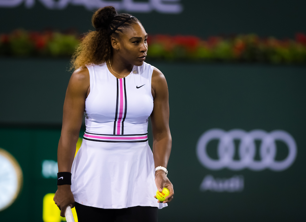 Serena Williams in the second round of the BNP Paribas Open, WTA Indian Wells 2019