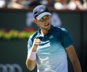 Dominic Thiem in the semi-finals of the BNP Paribas Open, ATP Indian Wells 2019