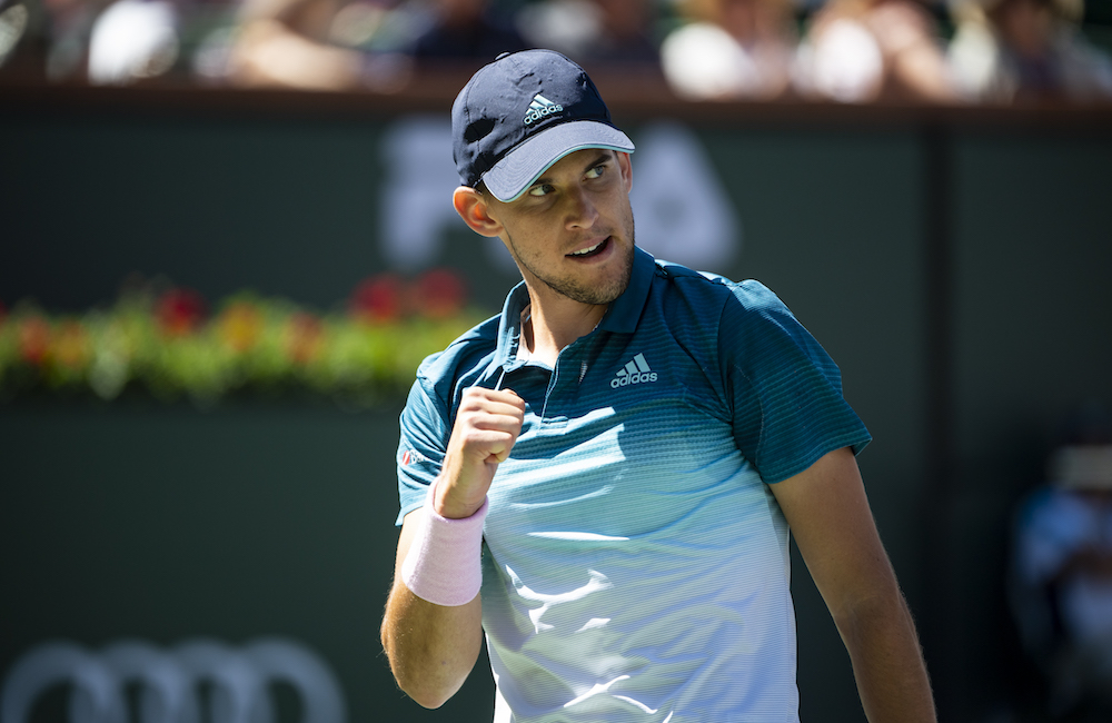 Dominic Thiem in the semi-finals of the BNP Paribas Open, ATP Indian Wells 2019