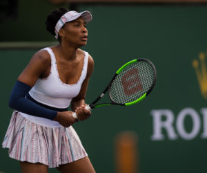 Venus Williams in the second round of the BNP Paribas Open, WTA Indian Wells 2019