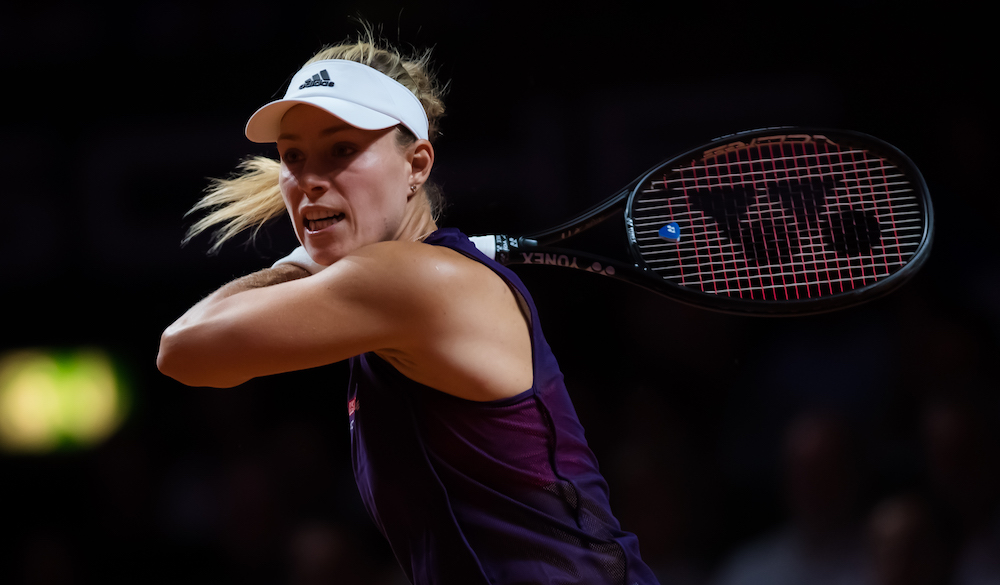 Angelique Kerber in the second round of the Porsche Tennis Grand prix, Stuttgart 2019