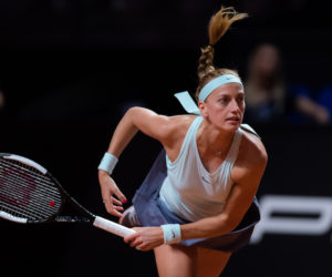 Petra Kvitova in the second round of the Porsche Tennis Grand Prix, Stuttgart 2019