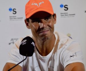 Rafael Nadal after the second round of ATP Barcelona, 2019