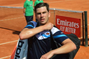 Cameron Norrie in the first round of ATP Barcelona, Spain 2019